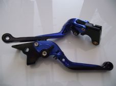 Yamaha FZ8 (11-15), CNC levers fold/extend blue/black adjusters, F16/Y688
